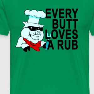 bbq_butt_loves_rub_tshirt - Men's Premium T-Shirt