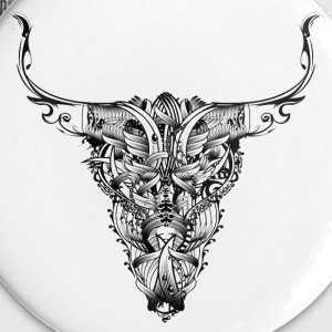 Head of a bull Buttons - Large Buttons