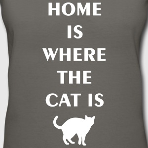 home is where the cat is Women's T-Shirts - Women's V-Neck T-Shirt
