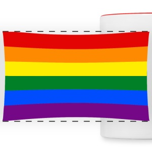 rainbow flag Mugs & Drinkware - Panoramic Mug