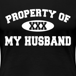 Property Of My Husband Gift for Wife Women's T-Shirts - Women's Premium T-Shirt