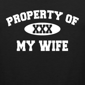 Property Of My Wife Gift for Husband Sportswear - Men's Premium Tank