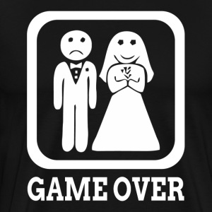 GAME OVER Marriage Bride Groom Wedding T-Shirts - Men's Premium T-Shirt