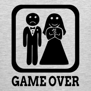 GAME OVER Marriage Bride Groom Wedding Sportswear - Men's Premium Tank