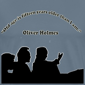 wise quote from Oliver Holmes - Men's Premium T-Shirt