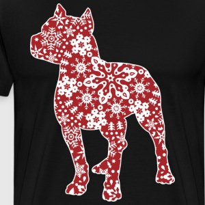 Pitbull Christmas Snowflakes - Men's Premium T-Shirt
