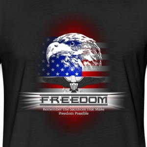 Freedom - Remember The Sacrifice Mens Fitted Poly  - Fitted Cotton/Poly T-Shirt by Next Level