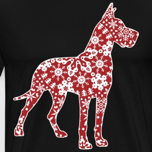 Great Dane Christmas Snowflakes - Men's Premium T-Shirt