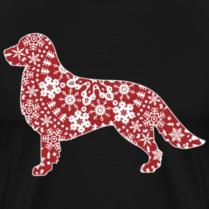 Golden Retriever Christmas Snowflakes - Men's Premium T-Shirt