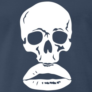 skull death head mouth lip kiss T-Shirts - Men's Premium T-Shirt