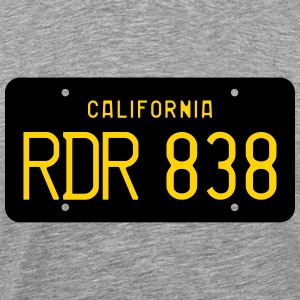 Retro 1963 California RDR 838 License Plate T-Shir - Men's Premium T-Shirt