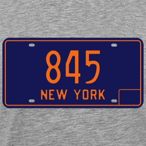 Retro 1966 New York License Plate 845 T-Shirt - Men's Premium T-Shirt
