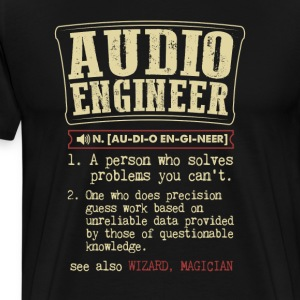 Audio Engineer Badass Dictionary Term Funny T-Shir T-Shirts - Men's Premium T-Shirt