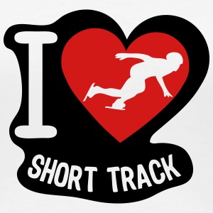 love short track coeur heart 1 T-Shirts - Women's Premium T-Shirt