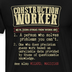 Construction Worker Badass Dictionary Term  T-Shir T-Shirts - Men's Premium T-Shirt