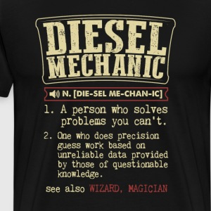 Diesel Mechanic Badass Dictionary Term  T-Shirt T-Shirts - Men's Premium T-Shirt