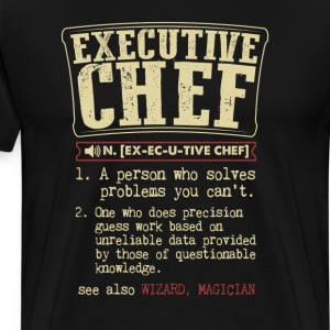 Executive Chef Badass Dictionary Term  T-Shirt T-Shirts - Men's Premium T-Shirt