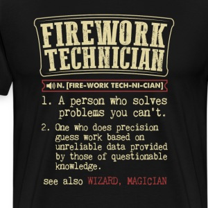 Firework Technician Badass Dictionary Term  T-Shir T-Shirts - Men's Premium T-Shirt