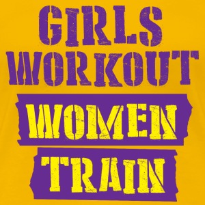Real Women train - Women's Premium T-Shirt