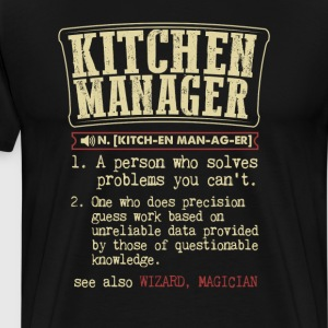 Kitchen Manager Badass Dictionary Term T-Shirt T-Shirts - Men's Premium T-Shirt