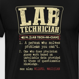 Lab Technician Badass Dictionary Term T-Shirt T-Shirts - Men's Premium T-Shirt