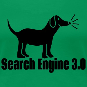 Search Engine Dog Women's T-Shirts - Women's Premium T-Shirt