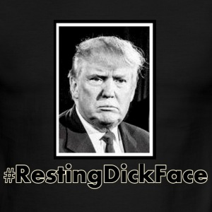 Trump: Resting Dick Face - Men's Ringer T-Shirt