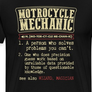 Motorcycle Mechanic Badass Dictionary Term T-Shirt T-Shirts - Men's Premium T-Shirt