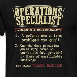 Operations Specialist Badass Dictionary T-Shirt T-Shirts - Men's Premium T-Shirt