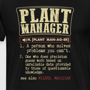 Plant Manager Badass Dictionary Term Funny T-Shirt T-Shirts - Men's Premium T-Shirt