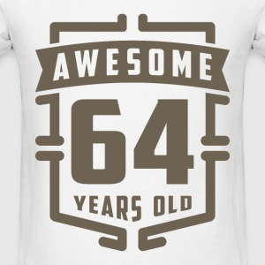 Awesome 64 Years Old - Men's T-Shirt