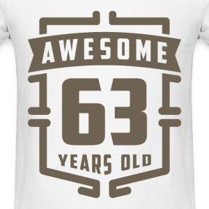 Awesome 63 Years Old - Men's T-Shirt
