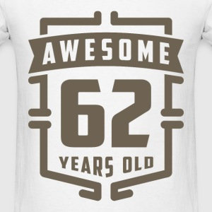 Awesome 62 Years Old - Men's T-Shirt
