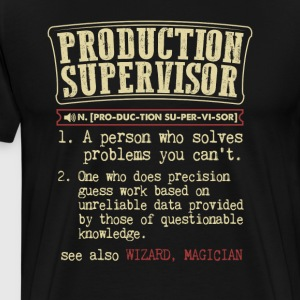Production Supervisor Badass Dictionary TT-Shirt T-Shirts - Men's Premium T-Shirt