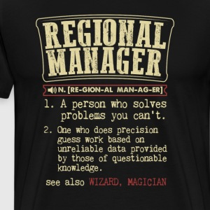 Regional Manager Badass Dictionary Term T-Shirt T-Shirts - Men's Premium T-Shirt