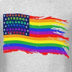 ORLANDO STRONG DISTRESSED FLAG WAVE - Men's T-Shirt