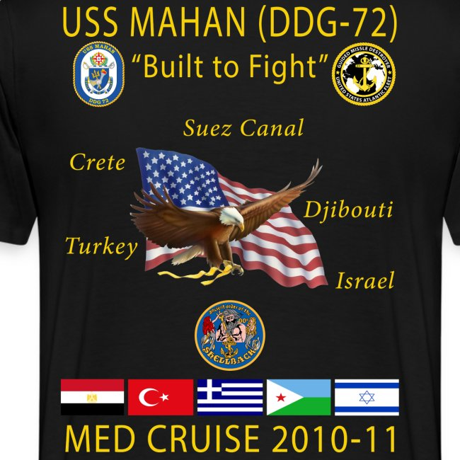 USS MAHAN DDG-72 2010-11 CRUISE SHIRT