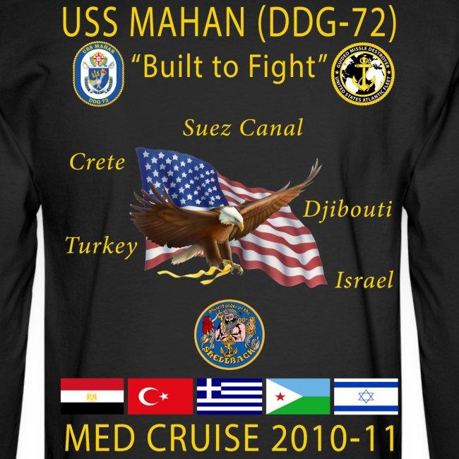 USS MAHAN DDG-72 2010-11 CRUISE SHIRT - LONG SLEEVE