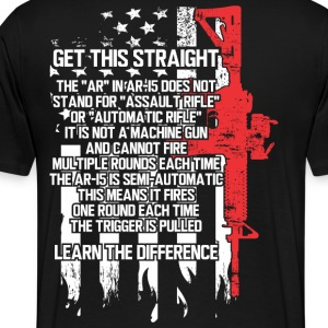 The AR-15 is NOT an Assault Rifle - Men's Premium T-Shirt