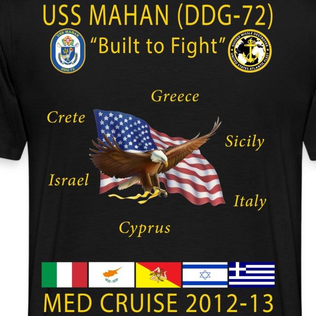 USS MAHAN DDG-72 2012-13 CRUISE SHIRT