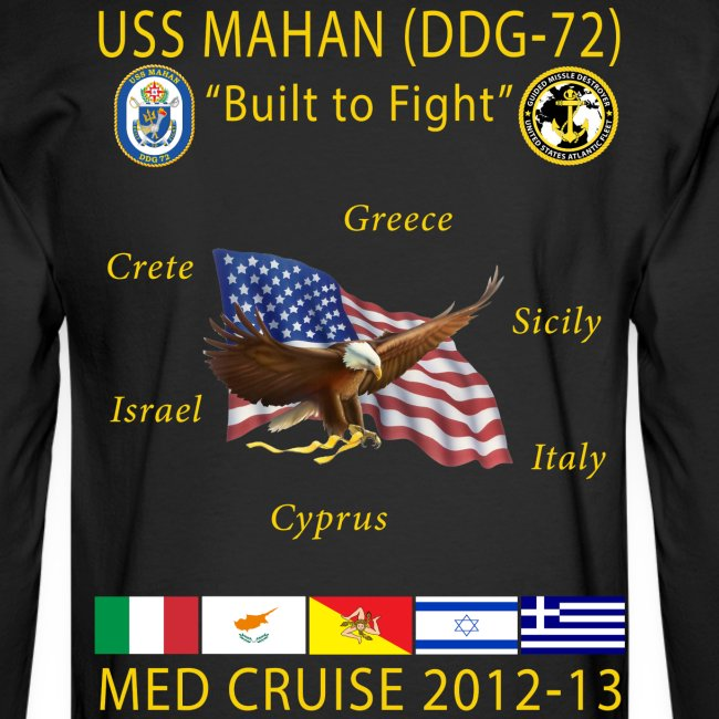 USS MAHAN DDG-72 2012-13 CRUISE SHIRT - LONG SLEEVE