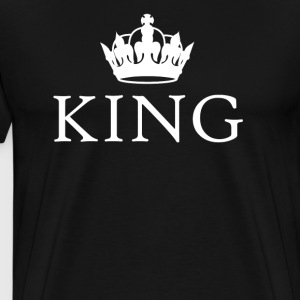 King Queen crown couples t-shirt - Men's Premium T-Shirt