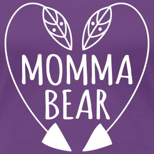 Momma bear t shirt heart - Women's Premium T-Shirt