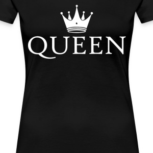 King Queen crown couples t-shirt - Women's Premium T-Shirt