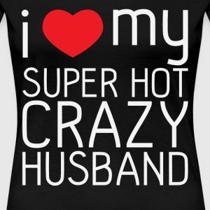 Matching couples shirt - I love my husband - Women's Premium T-Shirt