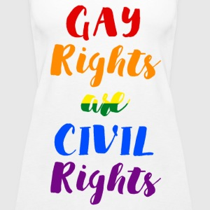 GAY RIGHTS ARE CIVIL RIGHTS - Women's Premium Tank Top