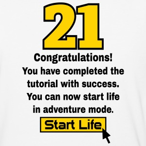Start Life 21st birthday T-Shirts - Baseball T-Shirt