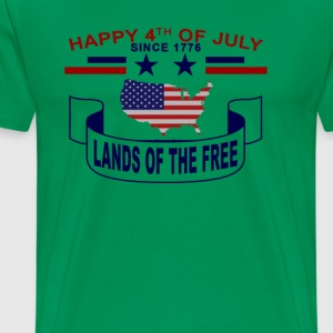 lands_of_the_free_happy_4th_july - Men's Premium T-Shirt