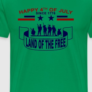 land_of_the_free_happy_4th_july_tshirt - Men's Premium T-Shirt