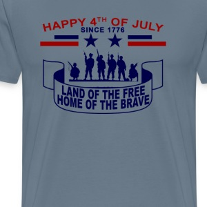 lands_of_the_free_home_of_the_brave_happ - Men's Premium T-Shirt
